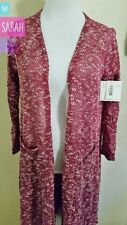 "Lularoe ""SARAH"" maroon speckled knit material M NWT"