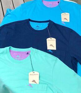 Tommy Bahama Men's Cool Cotton Crew Neck Pocket T Shirt S - XXL Navy Blue Green