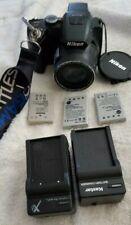 Nikon Digital Camera Coolpix P100 Black P100 3 batteries +2 chargers