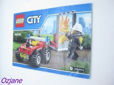 LEGO CITY INSTRUCTION MANUAL BOOKLET 60105 FIRE ATV