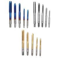 5pcs Manual Screw Thread Tap Tapper Set High Speed Steel Tap Tool M3/4/5/6/8 b