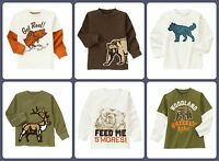 Gymboree NWT Kids Boys Long Sleeve Top, Shirt (3 4 5 6 7 8) 100% Cotton Animals