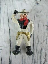 "Vintage Cast Iron Cowboy Rancher 2.5"" Statue Figurine Mid Century 50s 60s"