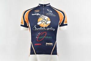 Verge Sorella Women's XS Short Sleeve Cycling Jersey, Blue/Orange