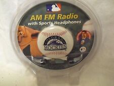 Colorado Rockies personal/sports  AM FM Radio  Sports Headphones MLB Baseball