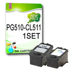 2 Reman Ink For Canon MP272 MP280 MP480 MP490 MP492 PG510 CL511