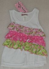 NEW Laura Dare Floral and Polka Dot Ruffle Tank Top Shirt Size 3T NWT