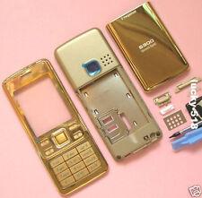 24K Metal Housing Cover Case Fascia Facia for Nokia 6300 keypad+ tool Gold/6300