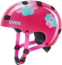 uvex Kid 3 Kinder-Fahrradhelm - Pink Flower, Gr. 51-55cm