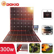 Dokio 300w 12v Portable Foldable Solar Panel Kit For Camping/RV/Solar Generator