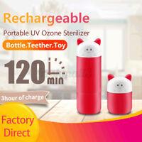 Portable Baby Bottle Pacifier Sterilizer UV Ozone Sterilization