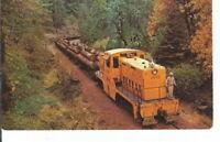 CC-403 Locomotive Logging Train in the Pacific Northwest Chrome Postcard