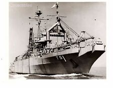 WWII US Navy Ship Photograph USS Edenton ATS-1 Original Photo 8x10