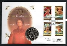 SAMOA QEII 70TH BIRTHDAY 1 DOLLAR COIN COVER