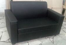 Divano due 2 posti Divanetto nero tessuto ecopelle sofà poltrona relax sedia