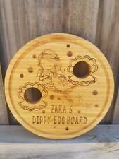 Dippy Egg Board Mermaid Design Personalised Bamboo Board