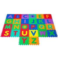 Foam Floor Alphabet Puzzles Mat For Kids - Water Resistant 6 Feet Wide
