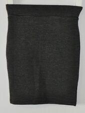 SPORTSGIRL Skirt Sz Small 6 8 Body Con Stretch Black Grey Stripe Jersey