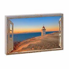 Bild auf Leinwand Fensterblick Nordsee Strand Meer Poster XXL 100 cm*65 cm 742q