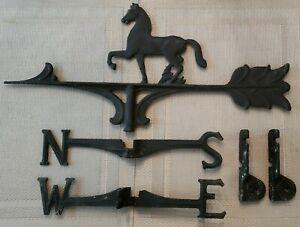Cast Iron Horse Wind Weather Vane Vintage Excellent Condition Not Complete