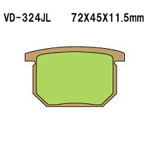 Vesrah Sintered Metal Front Brake Pads  VD-324JL