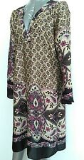 Brand New WALLIS loose tunic dress kaftan size S knee length long sleeve silky