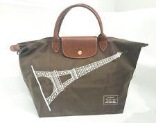 NEW Longchamp Le Pliage Khaki Eiffel Tower Medium Tote bag Limited RARE