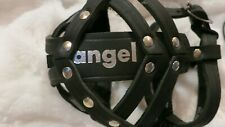 Angel Leather Boston Dog Muzzle