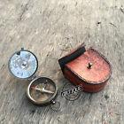 Vintage Regalo náutico Funda de brújula de cuero Vintage Look Pocket Fit Ca
