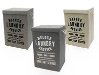 Deluxe Laundry Hamper Basket Bin Box Bag With Lid & Handles Foldable Washing Bag