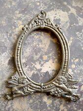 Vintage Rare Unique Shape Brass Mirror Frame Collectible Home Decor