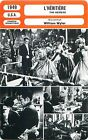 FICHE CINEMA FILM USA L'HERITIERE / THE HEIRESS Réalisateur William Wyler