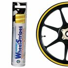 Honda CRF250M Oxford Motorcycle Curved Wheel Rim Sticker Decal Stripes Yellow