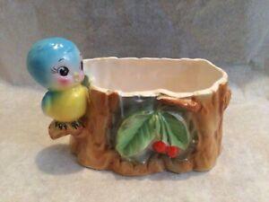 Vintage BLUE BIRD PLANTER-Norcrest, Replo, Lefton? Very Cute