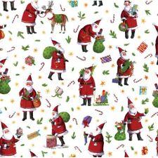 Caspari 8' Continuous Gift Wrap Roll, Busy Santa (9577RC)