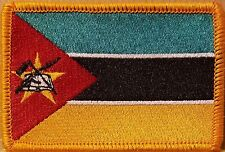 MOZAMBIQUE Flag Embroidered Iron-On Patch Military Emblem GOLD Border