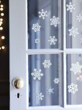 2000 REUSABLE Snowflake Christmas Window Glitter Stickers Xmas Home Decorations