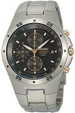 SEIKO SND451P1,Men's CHRONOGRAPH,Titanium case & bracelet,date,100m WR,SND451