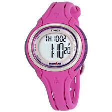 Timex TW5K90400, Ironman Sleek 50-Lap Indiglo Pink Watch, Alarm, Women's