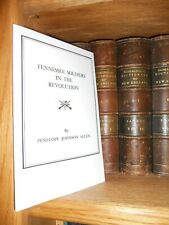 Tennessee Soldiers In The Revolution Genealogy Book