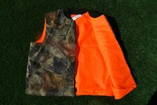 REALTREE NORTH AMERICAN HUNTING CLUB VEST REVERSIBLE CAMO SZ. L LIFE MEMBER