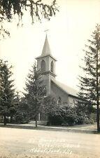 A View Of St Bernards Catholic Church, Abbotsford, Wisconsin Wi Rppc