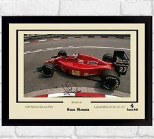 Nigel Mansell Ayrton Senna signed foto con Autografo cimeli FORMULA 1