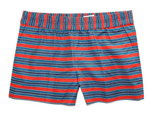 J Crew Factory - Womens 0 - NWT Red/Blue Striped Boardwalk Pull-On Shorts