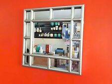 Silver framed window mirror