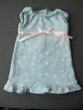 American Girl Doll lace trims rose bow flowers sky blue dress  2008 #34
