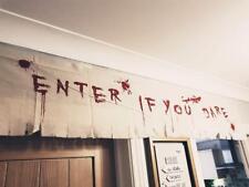 1.8M Halloween Enter If Your Dare Blood Cloth Door Window Banner Decoration Bunt
