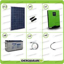 Kit solare fotovoltaico 3.2KW Inverter 5kW 48V MPPT Batterie AGM