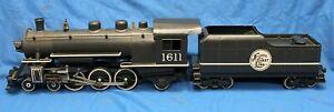 Original BUDDY L Outdoor Railroad ENGINE & TENDER Pressed Steel 1930's