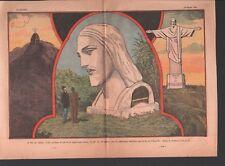 Christ Rédempteur au sommet du Corcovado Rio de Janeiro Brésil 1932 ILLUSTRATION